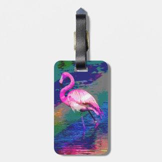 Bright Flamingo Luggage Tag