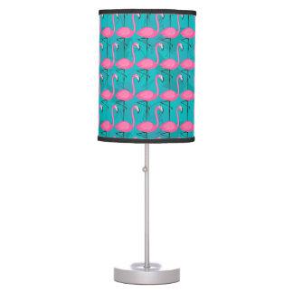 Bright Flamingo Pattern Desk Lamp
