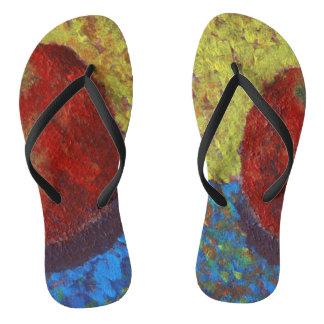 Bright Flip Flops