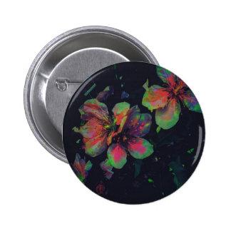 Bright Floral 2 Inch Round Button