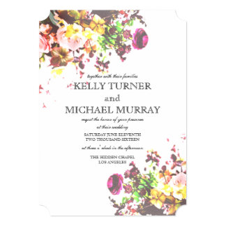 Bright Floral 5x7 Wedding Invitation