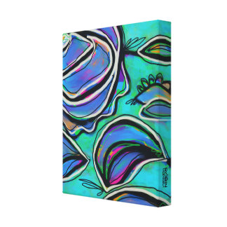 Bright Floral Abstract Canvas Print 11x14