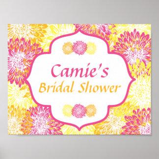 Bright Floral Bridal Shower Poster