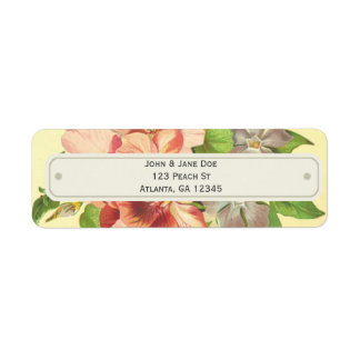 Bright, Floral Customizable Labels