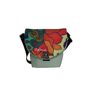 Bright Floral Messenger Bag MINI