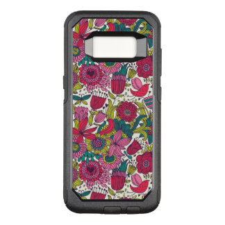Bright floral pattern OtterBox commuter samsung galaxy s8 case
