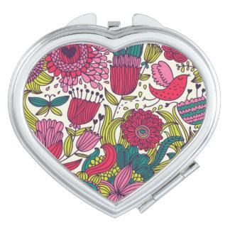 Bright floral pattern vanity mirrors