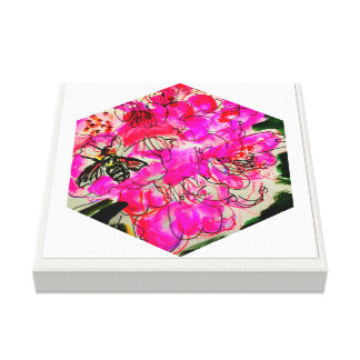 Bright Floral Scribble Canvas Print