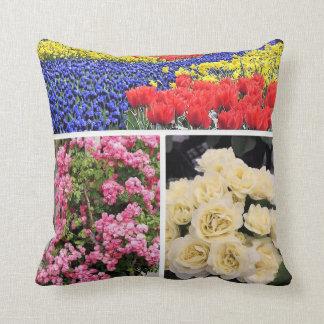 Bright Floral Throw Cushion 41 x 41 cm.