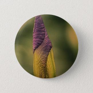 bright flower bud 2 inch round button