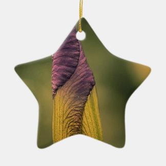 bright flower bud ceramic ornament