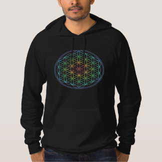 Bright Flower Of Life Rainbow Hoodie