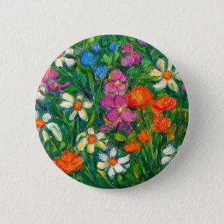 Bright Flowers 2 Inch Round Button