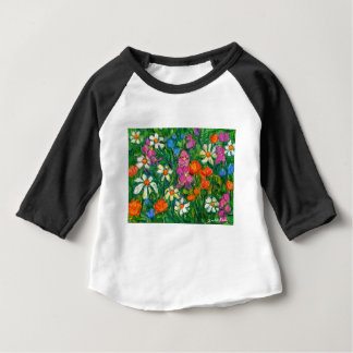Bright Flowers Baby T-Shirt