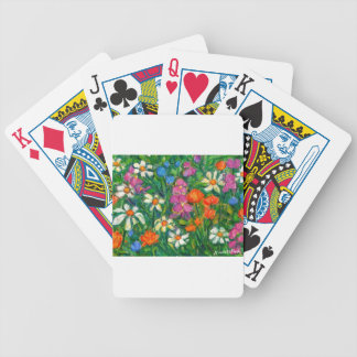 Bright Flowers Bicycle Playing Cards