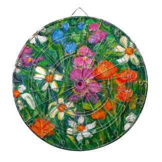 Bright Flowers Dartboard
