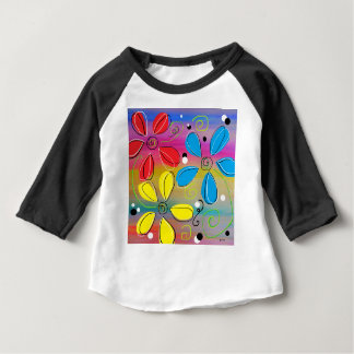 Bright Flowers Intertwined Baby T-Shirt
