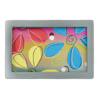 Bright Flowers Intertwined Belt Buckle