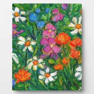 Bright Flowers Plaque