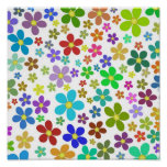 Bright flowers posters