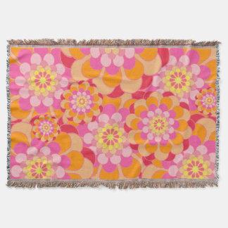 Bright Flowers Throw Blanket