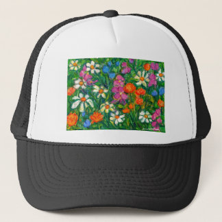 Bright Flowers Trucker Hat