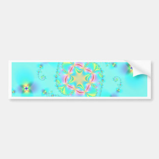 Bright Fractal Art Bumper Sticker