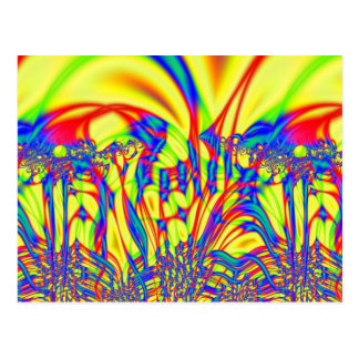 Bright Fractal Art Postcard