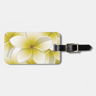 Bright Frangipani/ Plumeria flowers Bag Tag