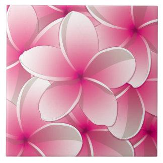 Bright Frangipani/ Plumeria flowers Ceramic Tile