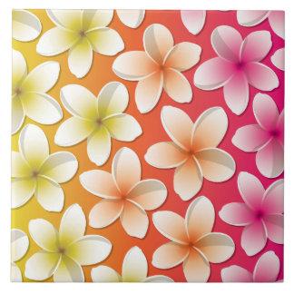 Bright Frangipani/ Plumeria flowers Ceramic Tiles