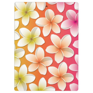 Bright Frangipani/ Plumeria flowers Clipboard