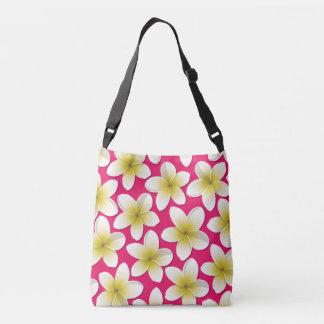 Bright Frangipani/ Plumeria flowers Crossbody Bag