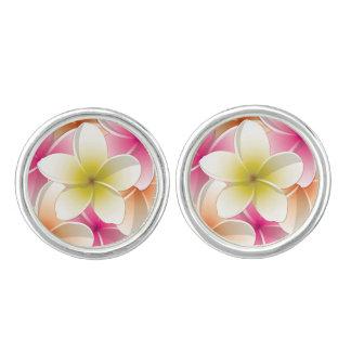 Bright Frangipani/ Plumeria flowers Cufflinks