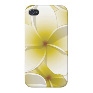 Bright Frangipani/ Plumeria flowers iPhone 4/4S Cases