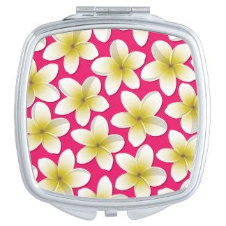Bright Frangipani/ Plumeria flowers Makeup Mirror