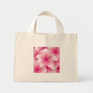 Bright Frangipani/ Plumeria flowers Mini Tote Bag