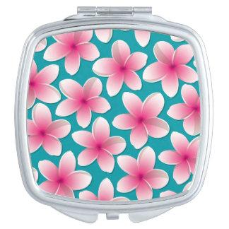 Bright Frangipani/ Plumeria flowers Mirror For Makeup