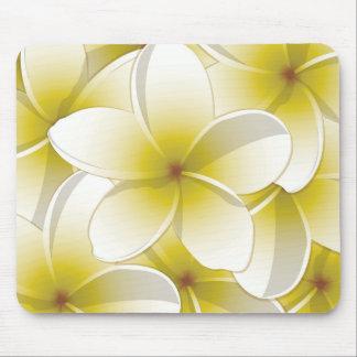 Bright Frangipani/ Plumeria flowers Mouse Pad