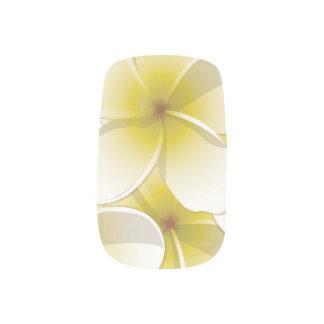 Bright Frangipani/ Plumeria flowers Nail Art