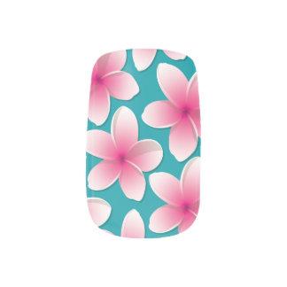Bright Frangipani/ Plumeria flowers Nail Wraps