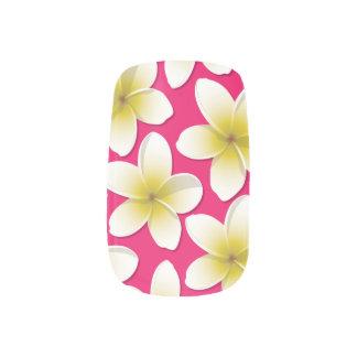 Bright Frangipani/ Plumeria flowers Nails Sticker