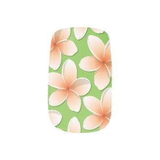 Bright Frangipani/ Plumeria flowers Nails Stickers