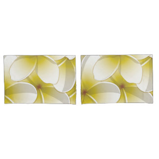Bright Frangipani/ Plumeria flowers Pillowcase