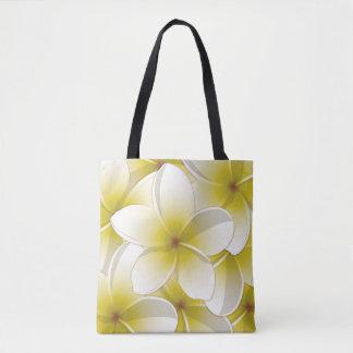 Bright Frangipani/ Plumeria flowers Tote Bag