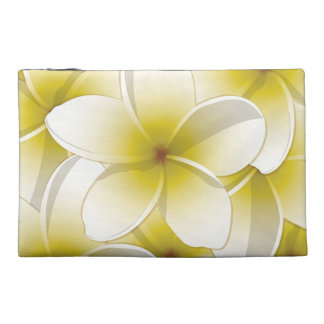 Bright Frangipani/ Plumeria flowers Travel Accessory Bags