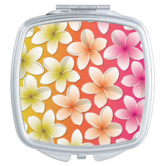 Bright Frangipani/ Plumeria flowers Vanity Mirror