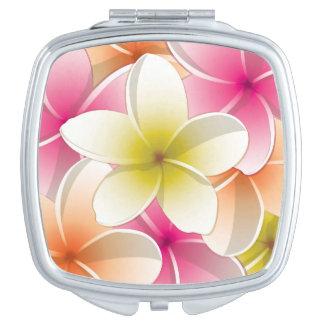 Bright Frangipani/ Plumeria flowers Vanity Mirrors