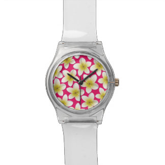 Bright Frangipani/ Plumeria flowers Watches