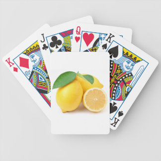 Bright & Fresh Yellow Lemons Bicycle Playing Cards